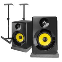 Vonyx SMN50B Active Studio Monitors Pair with Desktop Stands