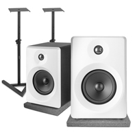 Vonyx SMN50W Active Studio Monitors Pair with Desktop Stands