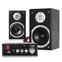Fenton SHFB55B HiFi Bookshelf Speakers Pair & AV340 Amplifier