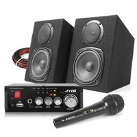 Fenton Passive Studio Monitors Pair, AV340 Amplifier & Microphone