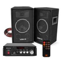 Vonyx SL6 HiFi Speakers & Amplifier with Bluetooth