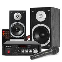 Fenton SHFB55B Karaoke Speaker Set with Microphone, Bluetooth