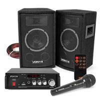 Vonyx SL6 Karaoke Speaker Set with Microphone, Bluetooth