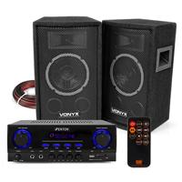 Vonyx SL6 HiFi Speaker Set & Stereo Amplifier, Bluetooth