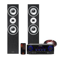 Skytec SHFT60 HiFi Tower Speakers & Stereo Amplifier, Bluetooth