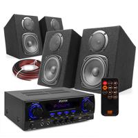 Fenton DMS40 HiFi Speaker Set & Stereo Amplifier, Bluetooth
