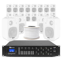 6-Zone Background Music System with BV40V White Wall Speakers & PRM606 Amplifier Pair