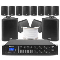 6-Zone Background Music System with BC50V Black Wall Speakers & PRM606 Amplifier, Set of 12