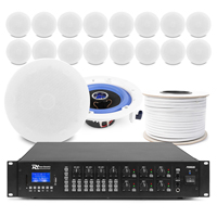 6-Zone Background Music System with ESCS6 Ceiling Speakers & PRM606 Amplifier, Set of 18
