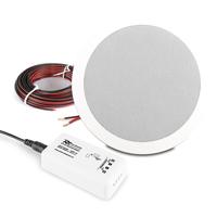 Q Acoustics QI65CW Ceiling Speaker, Weatherproof & BT10 Bluetooth Amplifier