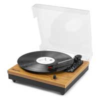Record Player with Built in Speakers - Fenton RP112L Lightwood