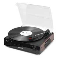 Record Player with Inbuilt Speakers - Fenton RP102B Black/Wood