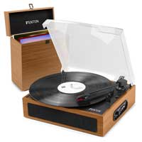 Vinyl Record Player with Built in Speakers & Wood Case - Fenton RP170L