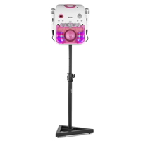 Fenton SBS20P Karaoke Machine TV System with Microphones, Stand & Lights