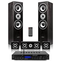 Fenton 5.0 Surround Sound Speakers with Bluetooth Amplifier, Black