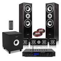 Fenton 5.1 Surround Sound Speakers with Subwoofer & Amplifier, Black