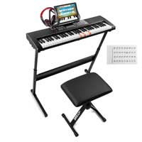 Electronic Childrens Keyboard Kit with 61 Lighted Keys - MAX KB5SET