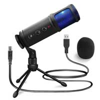 USB Condenser Microphone with Stand - Power Dynamics PCM120