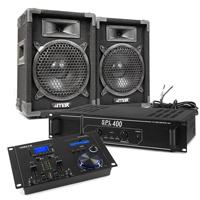 "Party DJ Setup - 8"" DJ Speakers, Amplifier & Bluetooth Mixer"