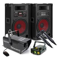 Adults Karaoke Machine - Fenton SPA1200, Mics, Smoke Machine & Laser