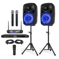 "Complete Adults Karaoke Machine Kit - Wireless Mics - 10"" Speakers"