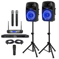 """Complete Adults Karaoke Machine Package - 12"""" Karaoke Speakers"""