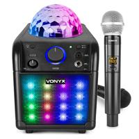 Childrens Karaoke Machine with Wireless Microphone - Vonyx SBS50B-PLUS