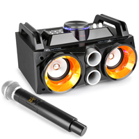 Battery Powered Kids Karaoke Machine & Wireless Mic - Fenton MDJ100