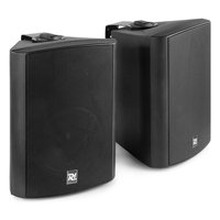 """Active Wall Mounted Bluetooth Speakers - PD DS50AB Black - 5.25"""""""