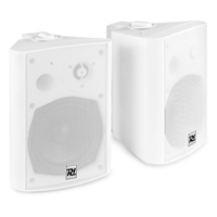 """Active Wall Mountable Bluetooth Speaker System - PD DS50AW White - 5.25"""""""