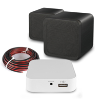WiFi HI-Fi System Black Wall Mount Speakers with Amplifier