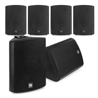 """Active Wall Mount Audio System - 6 x Black 5.25"""" Speakers"""