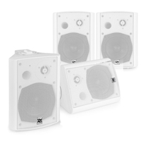 """Active Wall Mounted Sound System - 4 x White 5.25"""" Speakers"""
