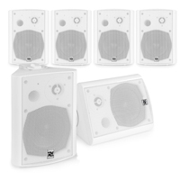 """Active Wall Speakers Systems - 6 x White 5.25"""" Speakers"""