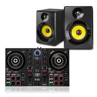 "DJ Setup for Beginner -  Hercules I200 & Vonyx 4"" Active Monitors"