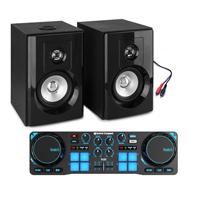 """Bedroom DJ Setup - Hercules DJControl & Vonyx 4"""" Active Monitors"""