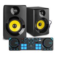 """Bedroom DJ Setup - Hercules Compact & Vonyx 3"""" Active DJ Monitors"""