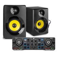 "Small DJ Set - Hercules Starlight & Vonyx 3"" Active Monitors"