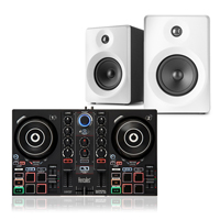 "Bedroom DJ Setup - Hercules Impulse 200 & Vonyx 4"" White Monitors"