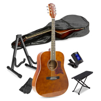 Acoustic Guitar Starter Kit with Footrest and Stand
