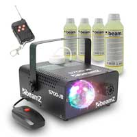 Beamz Smoke Machine with LED Jelly Ball + 4x Fluids 250ml 700W