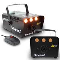 2x Beamz Smoke Machines with Flame Effect