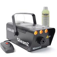 Beamz Smoke Machine with Flame Effect + 250ml Fluid