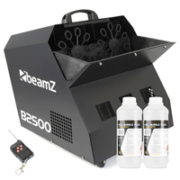 BeamZ B2500 Professional Bubble Machine & 2L Fluid
