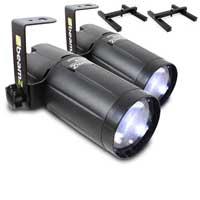 BeamZ LED Pinspot Light 6W Pair & Stands