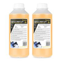 2x BeamZ ECO Orange 1L Smoke Fluid