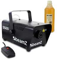 BeamZ S500 Smoke Machine with 1L Orange Fluid