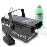 BeamZ S500 Smoke Machine with 1L Green Fluid