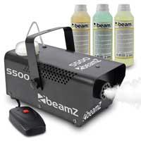 BeamZ S500 Smoke Machine & Fluids Set