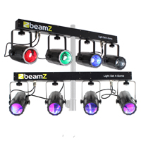 BeamZ 4-Some Moonflower Party Light Rail, Set of 2